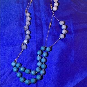New York & Company long layered necklace